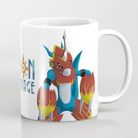 digimon Mugs featuring The Fire Of Courage by Zaukhes