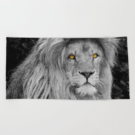LION BEAUTY Beach Towel