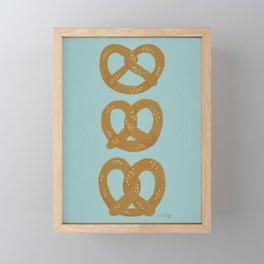 Pretzel Pattern – Mint Framed Mini Art Print