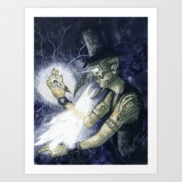 Shadow Man 3 Art Print