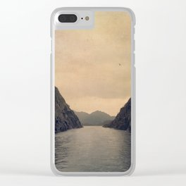 mountains - follow your heart Clear iPhone Case