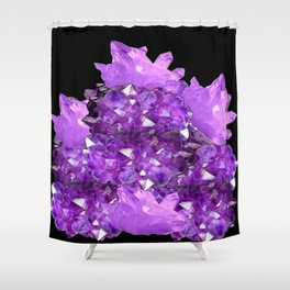 AWESOME PURPLE AMETHYST CRYSTAL CLUSTER Shower Curtain