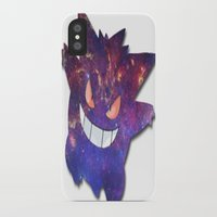 gengar iPhone & iPod Cases featuring Galaxy Gengar by Visual Declaration
