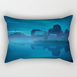 Contryside blue morning Rectangular Pillow