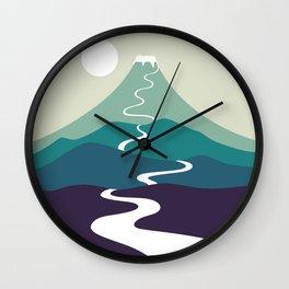 Cat Landscape 80 Wall Clock