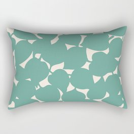 Apple Leaf: Dusty Teal Rectangular Pillow