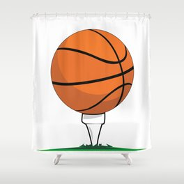Basketball Tee Shower Curtain