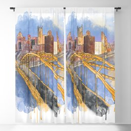 Pittsburgh Fort Pitt and Downtown Blackout Curtain