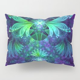 The Clockwork Kite Wings of a Blue-Green Dragonfly Pillow Sham