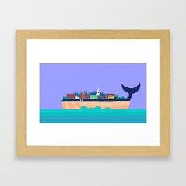 Eastport Whale Framed Art Print