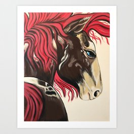 Cinnamon Horse by Noelles's Art Loft Art Print