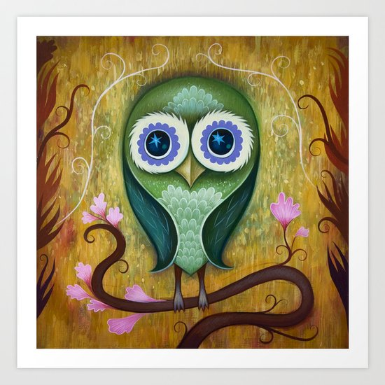 Day Owl Art Print