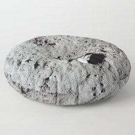 Apollo 11 - First Footprint On The Moon Floor Pillow
