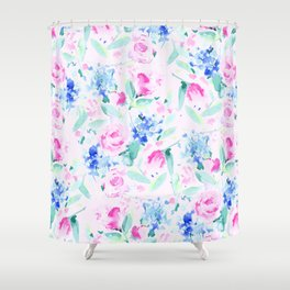 Scattered Lovers Pink Shower Curtain