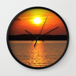Sundown on the Lake Wall Clock