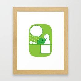Green Money Guy Framed Art Print
