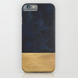 Color Blocked Gold & Cobalt iPhone Case