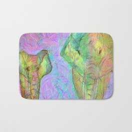 Colored elephants Bath Mat