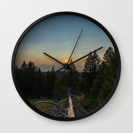 Signal Mountain Overlooking the Sunset Wall Clock