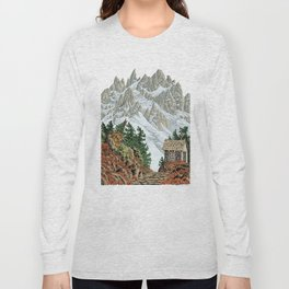 BEYOND MOUNT SHUKSAN AUTUMN COLOR VERSION Long Sleeve T-shirt