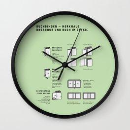 Buchbinden – Merkmale Broschur und Buch im Detail (in German) Wall Clock