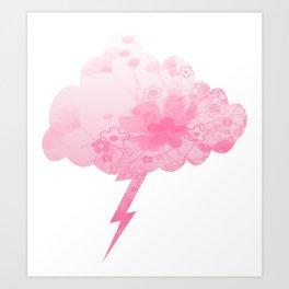 Daisy Dream  Lightning Cloud  Art Print
