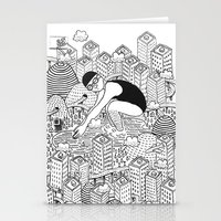 diver Stationery Cards featuring Diver by millo