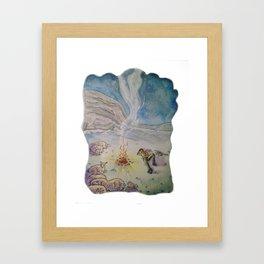 Popcorn the Lamb 10 Framed Art Print