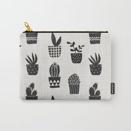Desert Potted Cactus + Succulents Carry-All Pouch