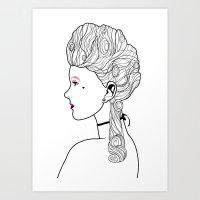 marie antoinette Art Prints featuring Marie Antoinette by Nicholas Darby