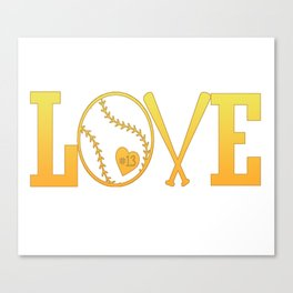 Love softball Canvas Print