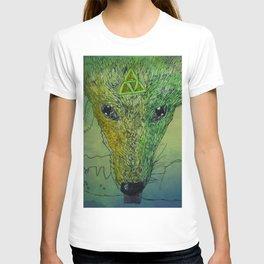 Mystical Celtic Jackal Drinking T-shirt
