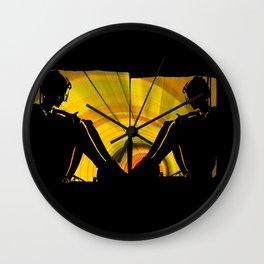 sun thoughts Wall Clock