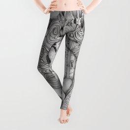 JennyMannoArt GRAPHITE DRAWING/FAIRIE Leggings