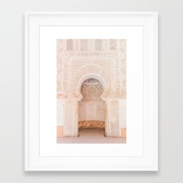 Marrakech Ben Youssef Madrasa Framed Art Print