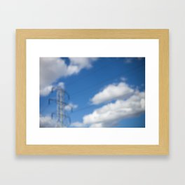 HOME: EARLY OCTOBER, CLOUDS & ELECTRICITY  Framed Art Print