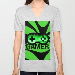 Gamer Green V2 Unisex V-Neck