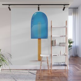 Blue Iced Lolly Wall Mural