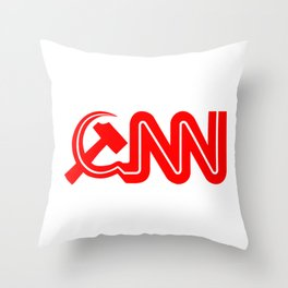 Communist News Network Throw Pillow