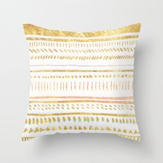 GOLD TRIBE Throw Pillow