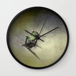 Feeling Frisky - Hummingbird Wall Clock