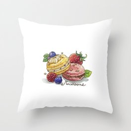 Macaroons Throw Pillow