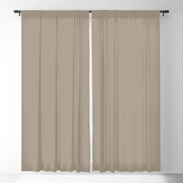 Dunn & Edwards 2019 Curated Colors Kiln Dried (Muted Ceramic Brown) DET692 Solid Color Blackout Curtain
