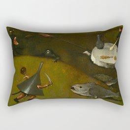 "Hieronymus Bosch ""The Temptation of Saint Anthony"" (Kansas) - detail Rectangular Pillow"