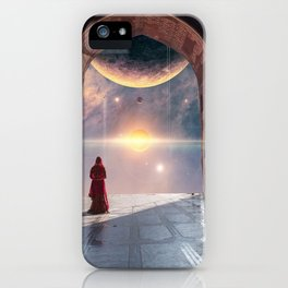 Cosmic Esoteric Consciousness Collage Art iPhone Case