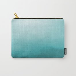 Aqua Teal Turquoise Watercolor Ombre Gradient Blend Abstract Art - Aquarium SW 6767 Carry-All Pouch
