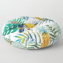 tropical toucan Floor Pillow