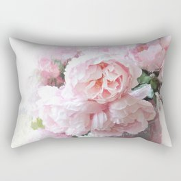 Impressionistic Dreamy Peony Peonies Wall Art Home Decor Rectangular Pillow