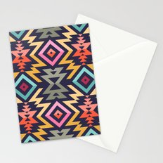 Seamless Vector Pattern in Tribal Style. Mix of stripes and triangles Stationery Cards