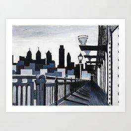 Philadelphia Skyline B&W Art Print